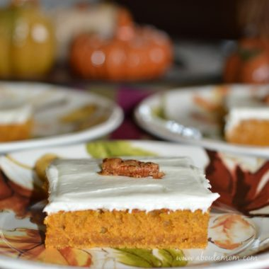 Pumpkin Bars with Maple Cream Cheese Frosting