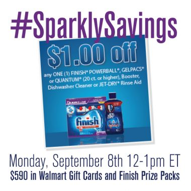 Join the #SparklySavings Twitter Party on 9/8