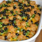 This Taco Tater Tots Casserole is simple to make, budget-friendly and a meal the whole family will enjoy. With all the flavors of a taco, this tater tot casserole goes great with a side salad for an easy meal. This 30-minute meal is perfect for a busy weeknight.