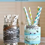 Washi Tape Halloween Mason Jars