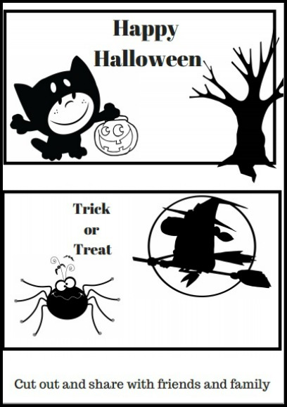 Halloween Cut Out and Share Printable
