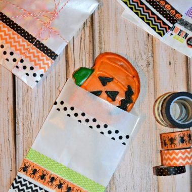 Halloween Washi Tape Treat Bags