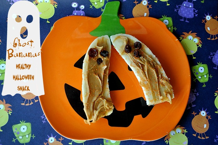 Healthy Halloween Treats - Ghostly Bananas