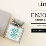 Tiny Prints Promo Code Save 50% off Address Labels and Gift Tags