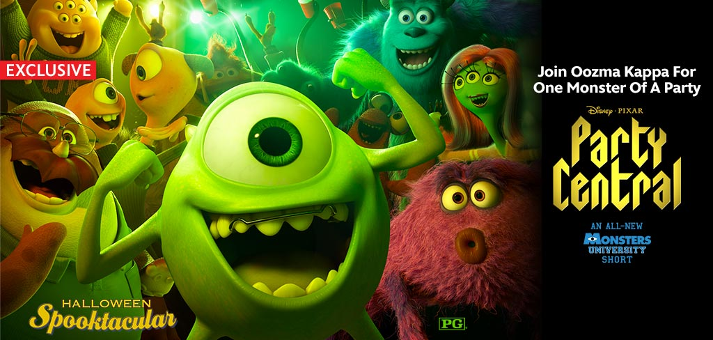 Monsters University PARTY CENTRAL is Now on Disney Movies Anywhere