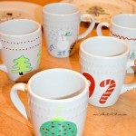DIY Painted Mugs and Santa Cookie Plate