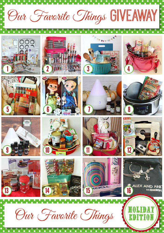 My Favorite Things Holiday Giveaway 2014