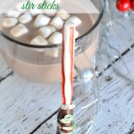 Homemade Chocolate Covered Peppermint Stir Sticks