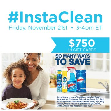 #InstaClean Twitter Party