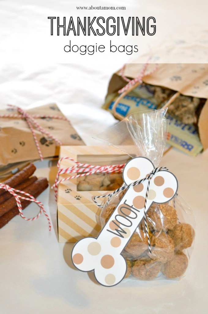 Thanksgiving Doggie Bags with Printable Dog Bone Gift Tags