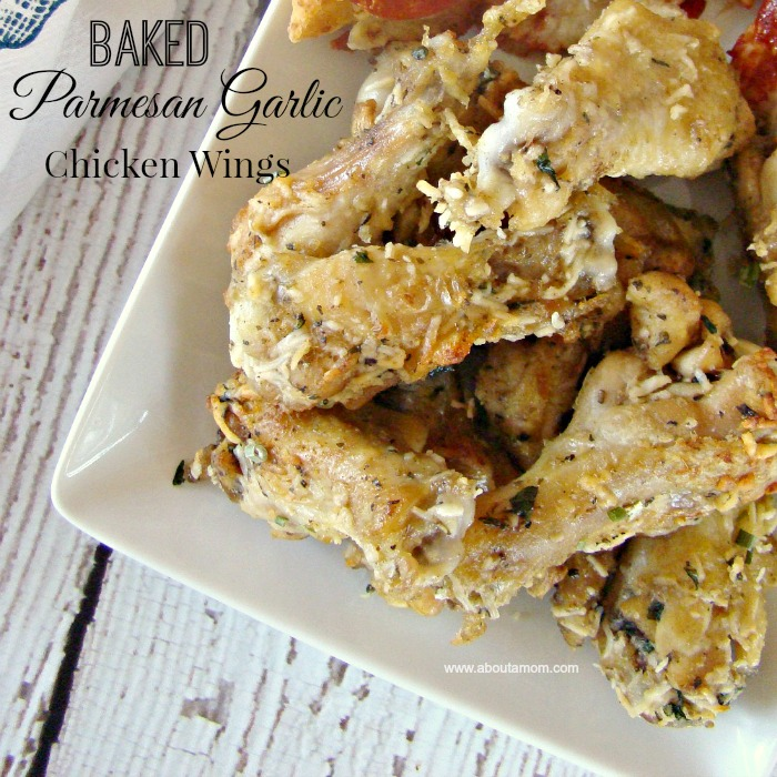 Baked Parmesan Garlic Chicken Wings Recipe at About A Mom