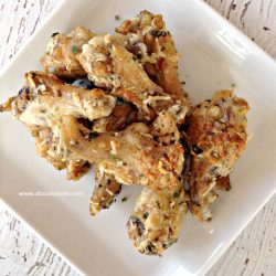 Baked Parmesan Garlic Chicken Wings at About A Mom