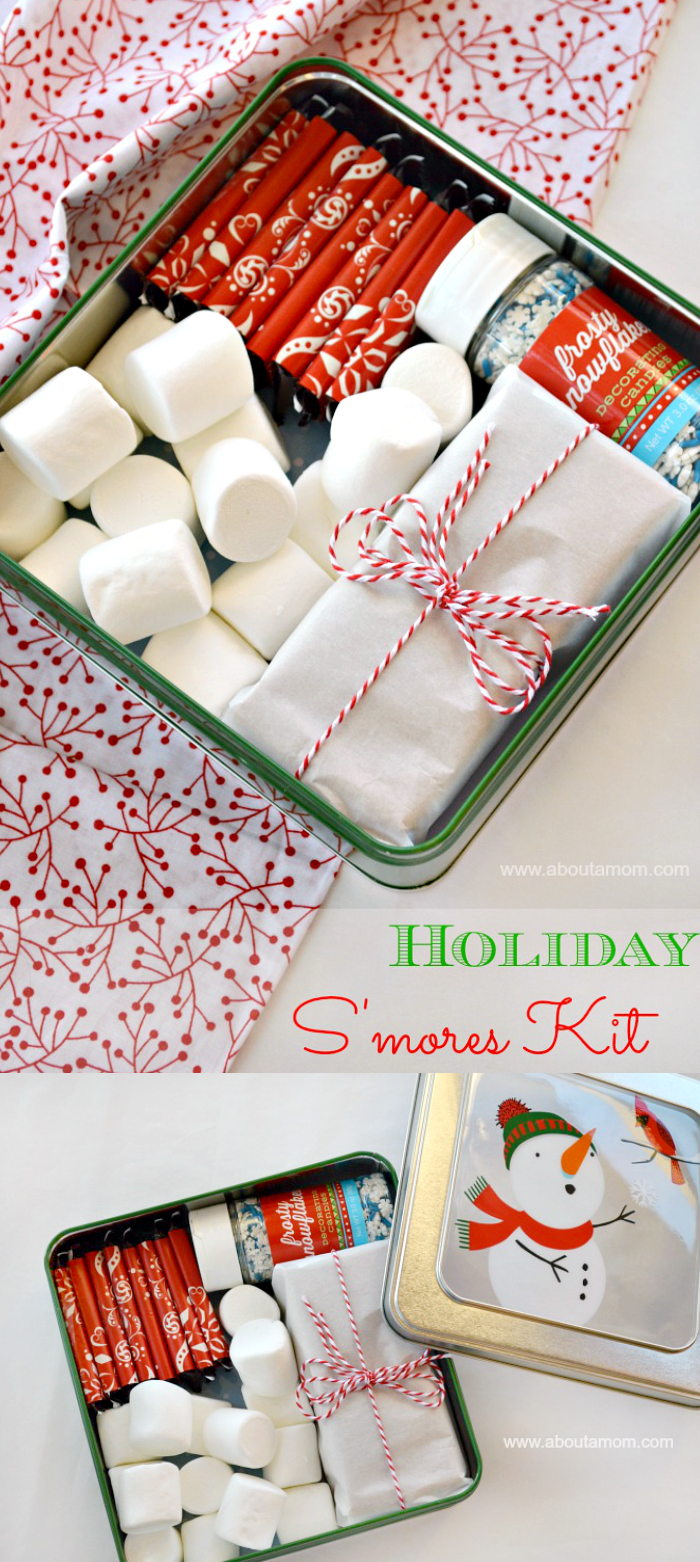 DIY Holiday S'mores Kit - Homemade Holiday Gift Idea