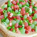 Festive Christmas Candy Cheesecake