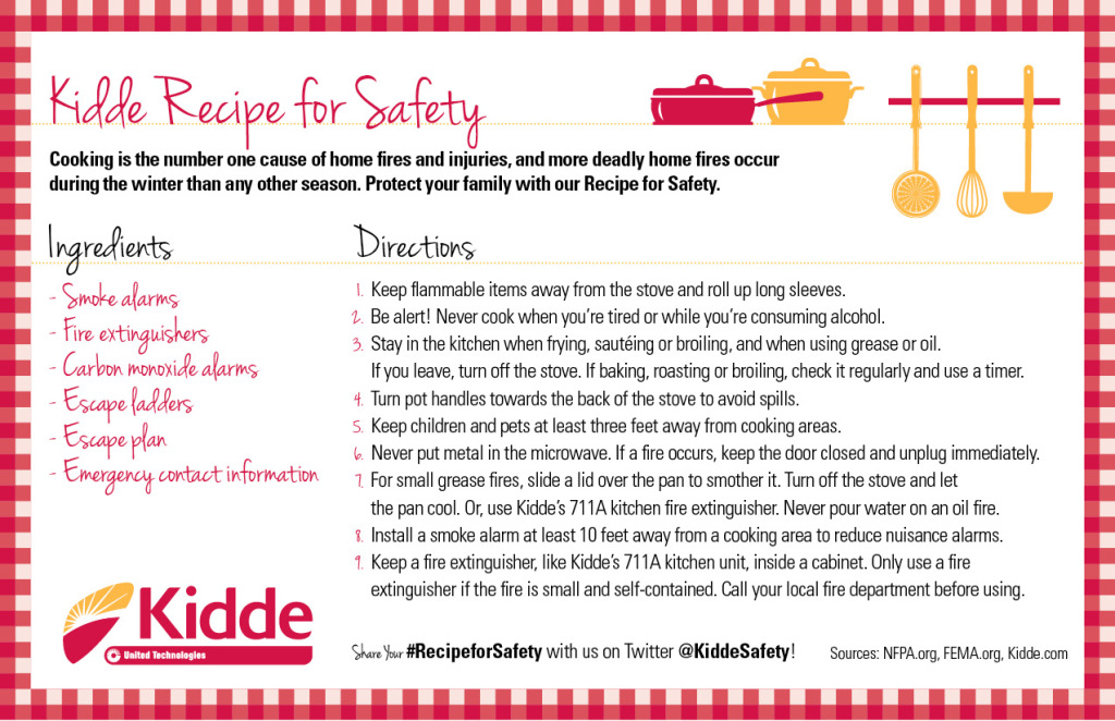 Kidde Holiday Recipe for Safety