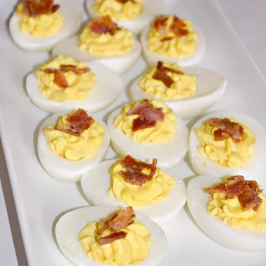 Simple and Delicious Bacon Ranch Deviled Eggs Recipe at About A Mom
