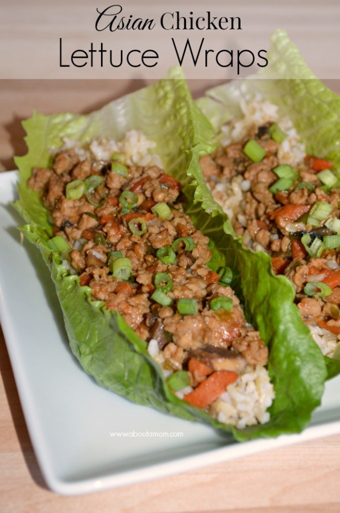 Asian Chicken Lettuce Wraps - About A Mom
