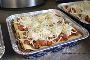 Freezer Meal Recipe for Lasagna