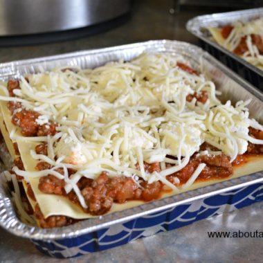 Freezer Meal Recipe for Lasagna