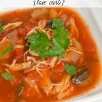 Low Carb Slow Cooker Chicken Fajita Soup