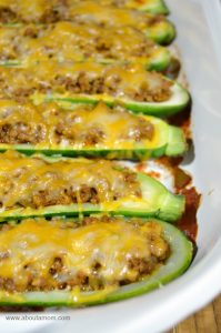 Taco Stuffed Zucchini Boats Recipe