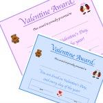 Valentine Awards Printable 150