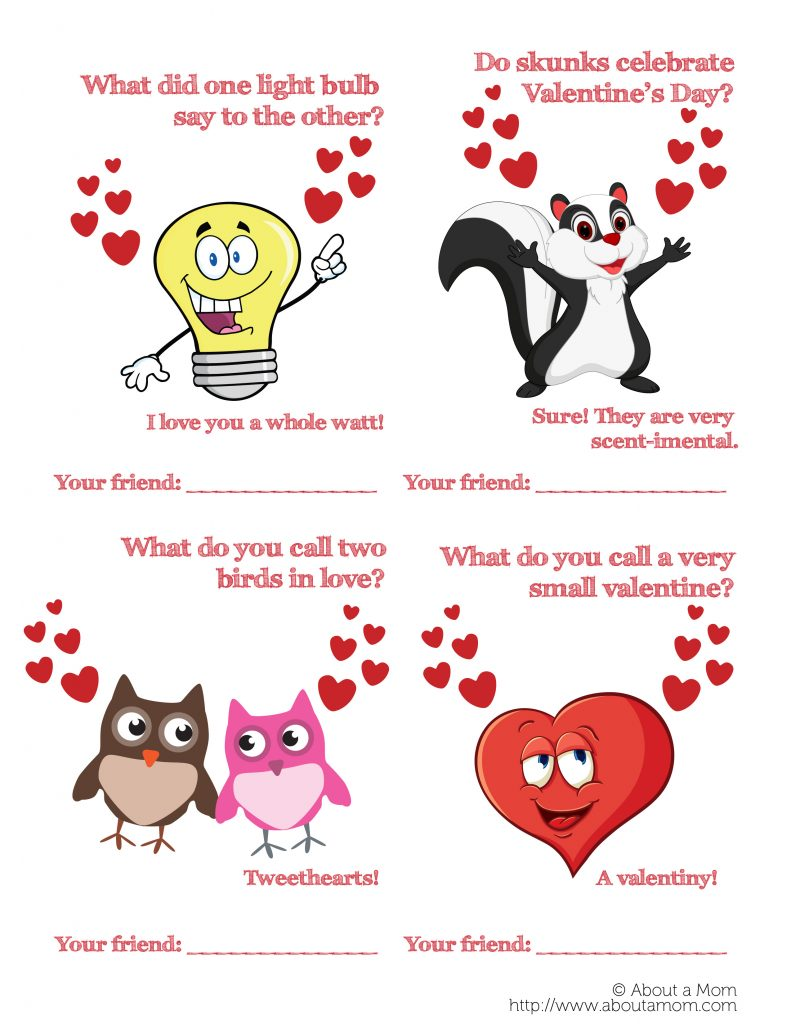 free printable funny valentine's day cards  about a mom