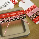 Washi Tape Valentine Trinket Box and Gift Tags 150