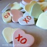 homemade conversation hearts 150