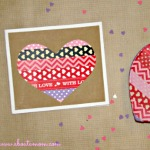 washi tape valentine card 150