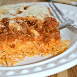 Baked Spaghetti Freezer Meal Recipe