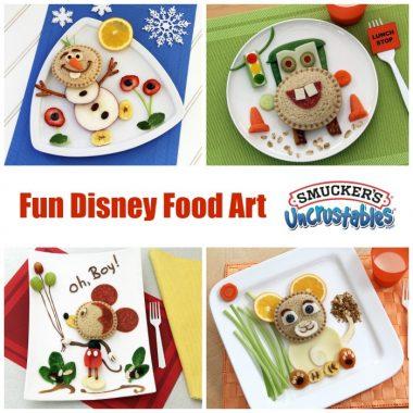 Fun Disney Food Art Featuring Smuckers Uncrustables