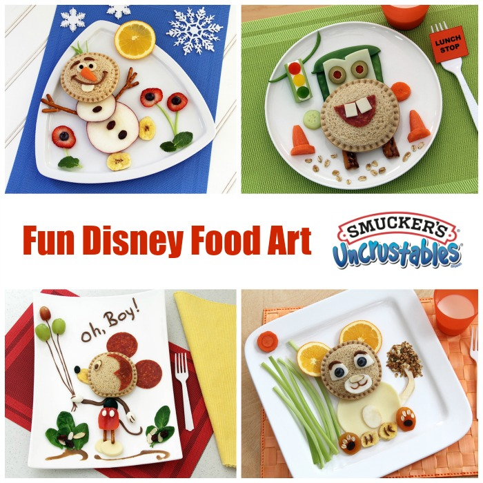 Fun Disney Food Art Featuring Smuckers Uncrustables