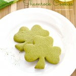 Green Tea Shamrock Cookies