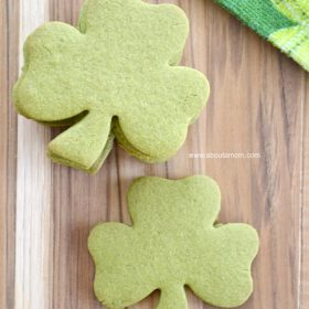 Matcha Green Tea Shamrock Cookies