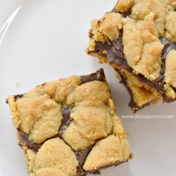 Chocolate Peanut Butter Cake Mix Cookie Bars