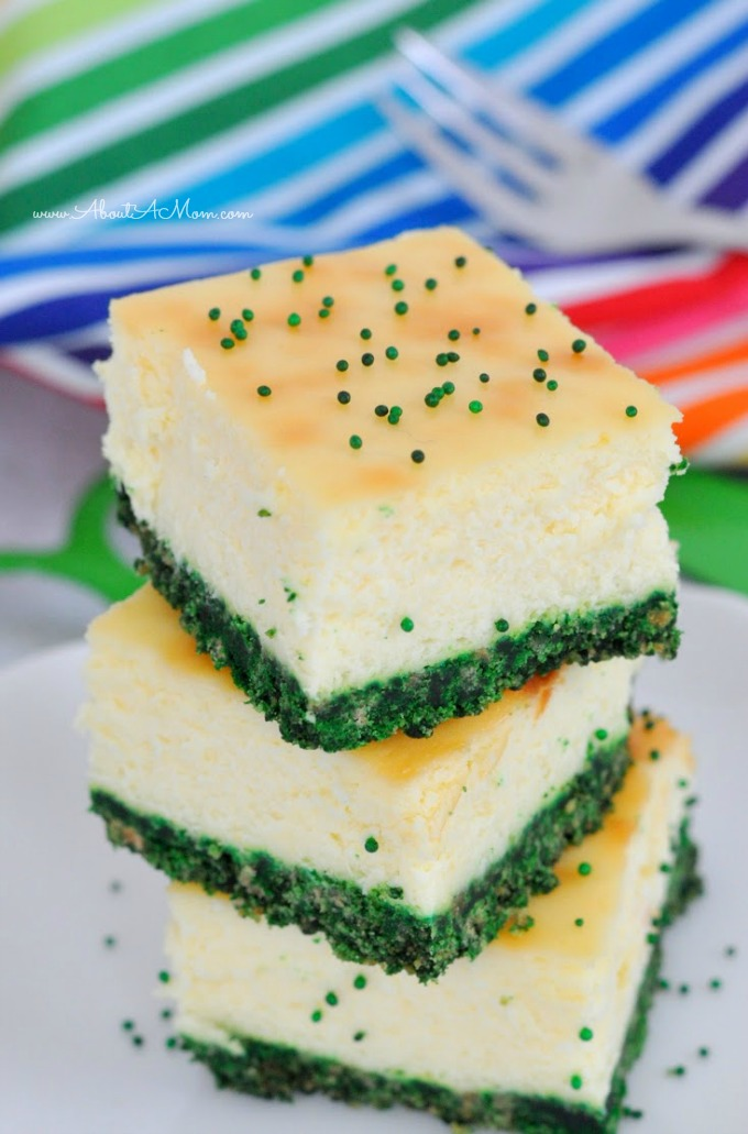 Pics Photos - St Patrick S Day Green Velvet Cheesecake Shamrocks