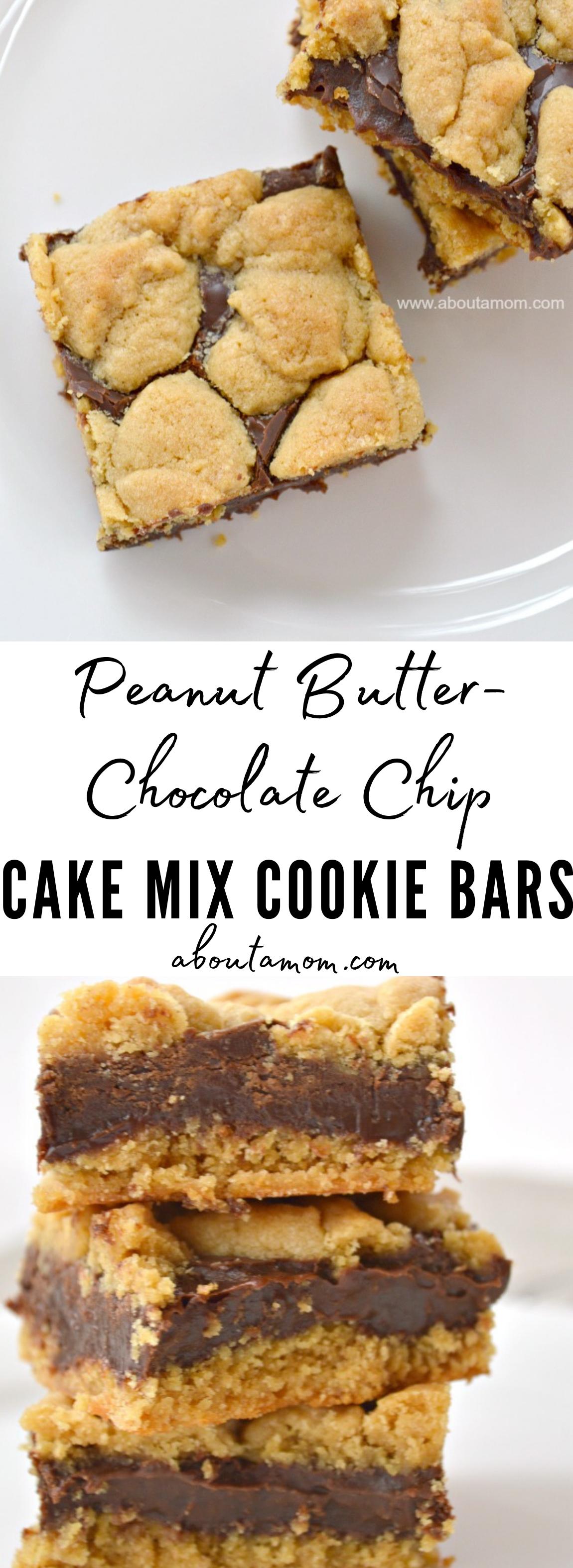 Peanut Butter-Chocolate Chip Cake Mix Cookie Bars Recipe