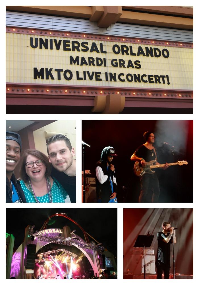 Universal Orlando Mardi Gras MKTO Concert