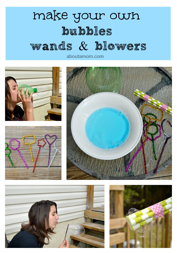 Make your own bubbles, wands and blowers!