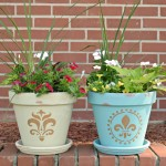 A painted flower pots diy project, inspired by the MOTRIN® Make It Happen Weekends program.