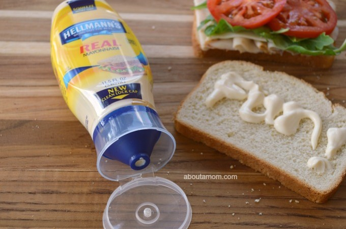 Squeeze a bit of FUN with Hellmann's squeeze bottle with a precision tip!