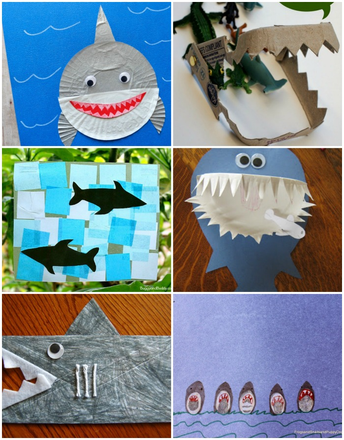20 Fun Shark Crafts for Kids that are perfect for Shark Week.