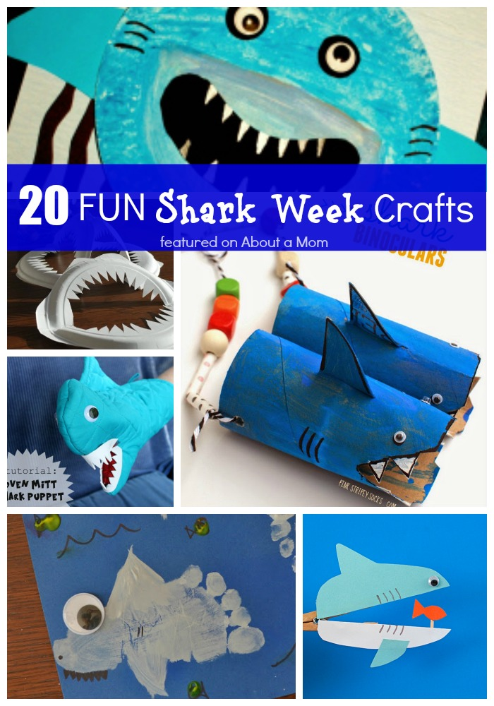 Shark bytes for Fun crafts to do with your mom