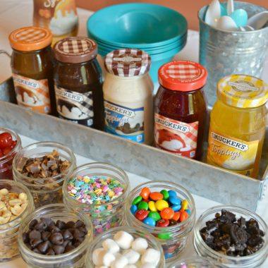 Creating and Ice Cream Sundae Bar