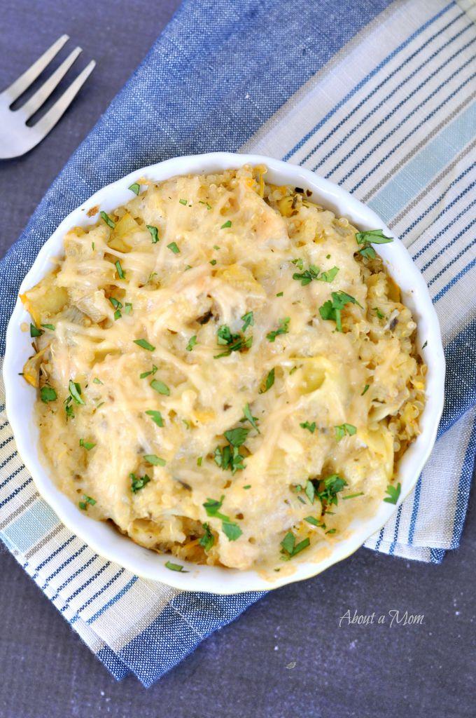 Chicken Artichoke Quinoa Casserole Recipe