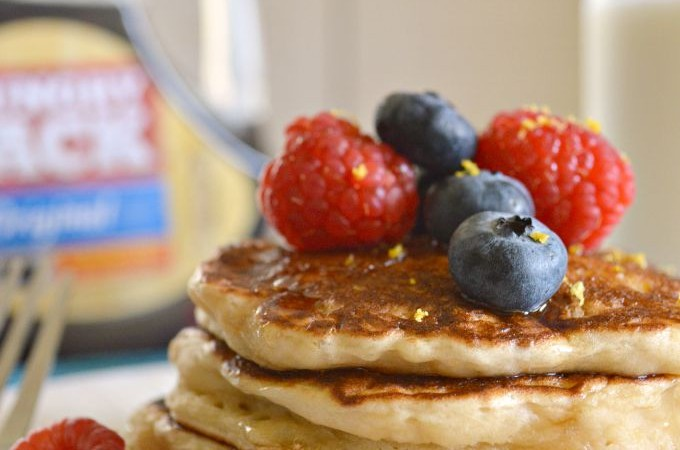 Lemony Pancakes with Berries