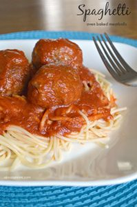 Spaghetti with Oven Baked Meatballs
