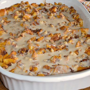 Baked Pumpkin French Toast with a Maple Glaze