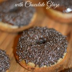 Old Fashioned Chocolate Doughnuts with Chocolate Glaze